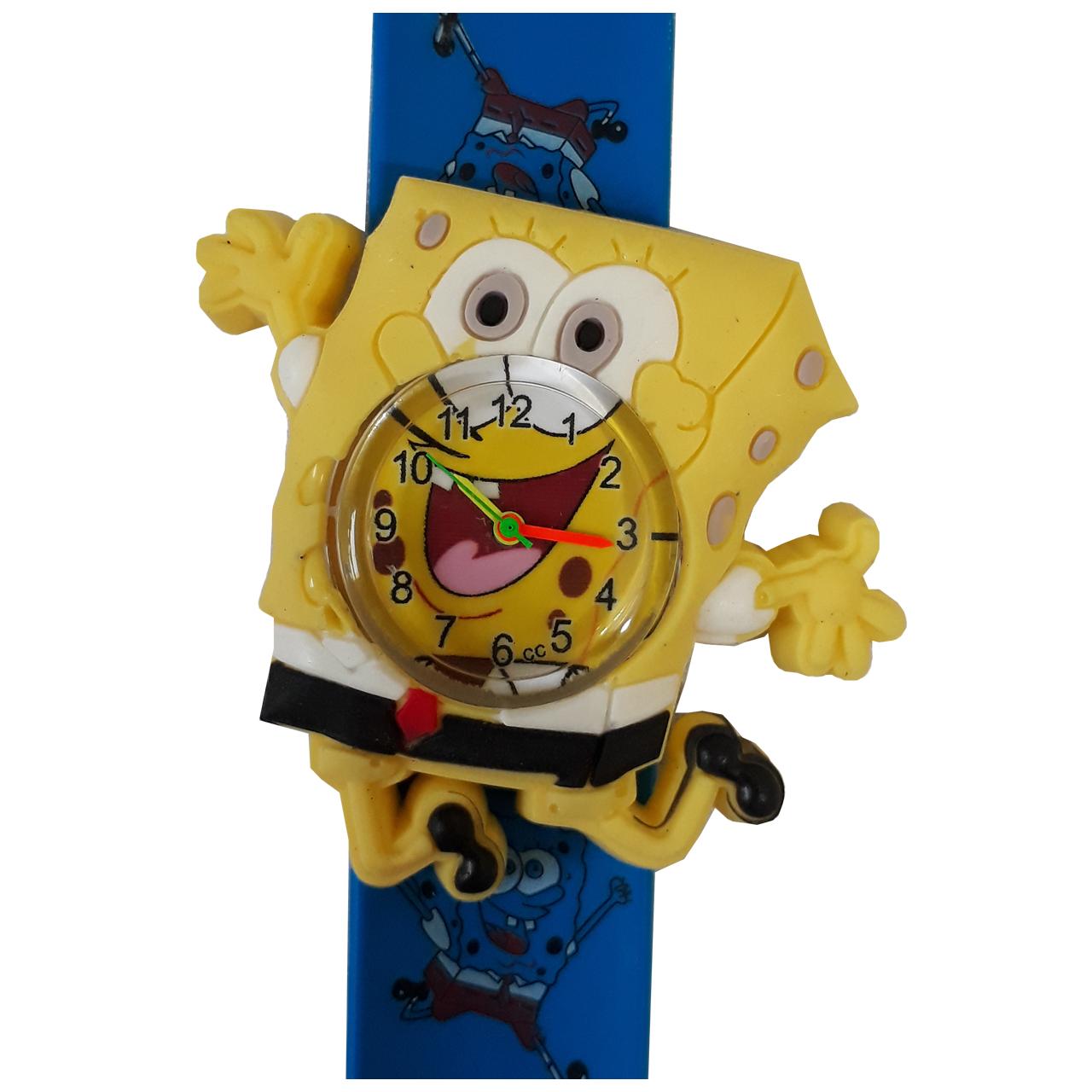 ساعت مچی عقربه ای بچگانه مدل باب اسفنجی عروسکی کد 904