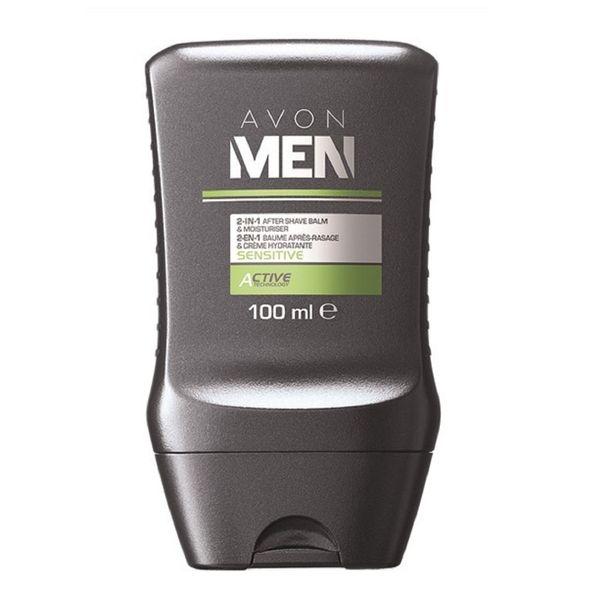 افتر شیو آون مدل Avon Men Sensitive 2-1 After Shave Balm and Moisturiser حجم 100 میلی لیتر