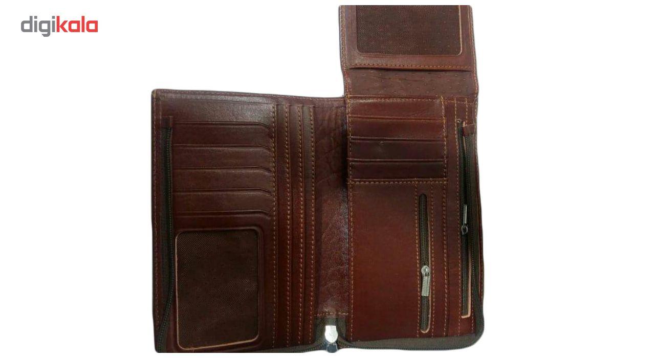 کیف پاسپورتی مردانه چرم ناب مدل Pasکد P-210 main 1 3