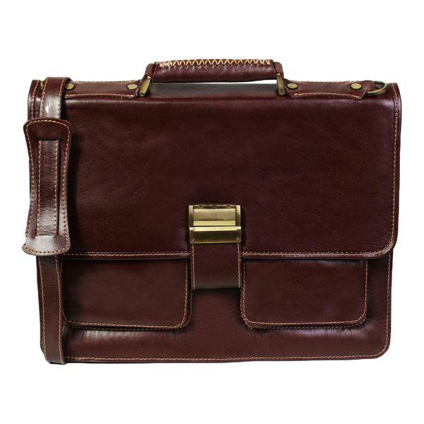 کیف اداری چرم ناب مدل دو جیب کد E5-50