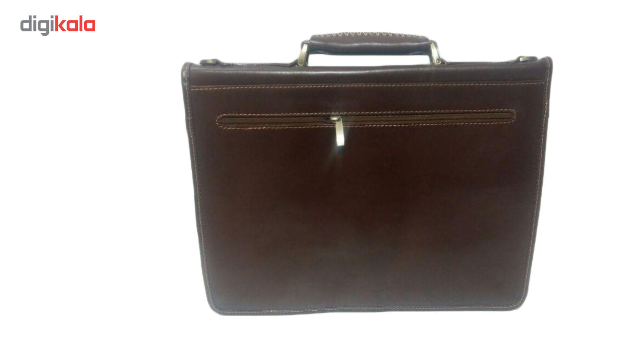 کیف اداری چرم ناب مدل دو جیب کد E5-50 main 1 4