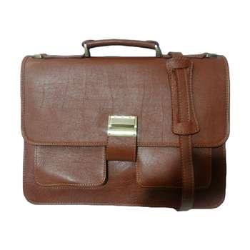کیف اداری چرم ناب مدل دو جیب کد E560