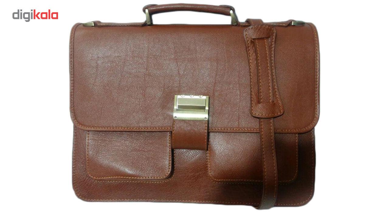 کیف اداری چرم ناب مدل دو جیب کد E560 main 1 1