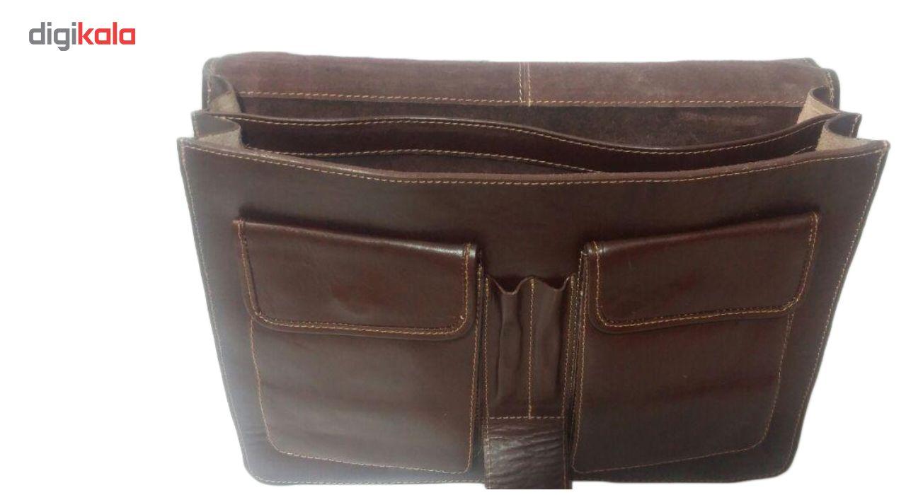کیف اداری چرم ناب مدل دو جیب کد E560 main 1 2