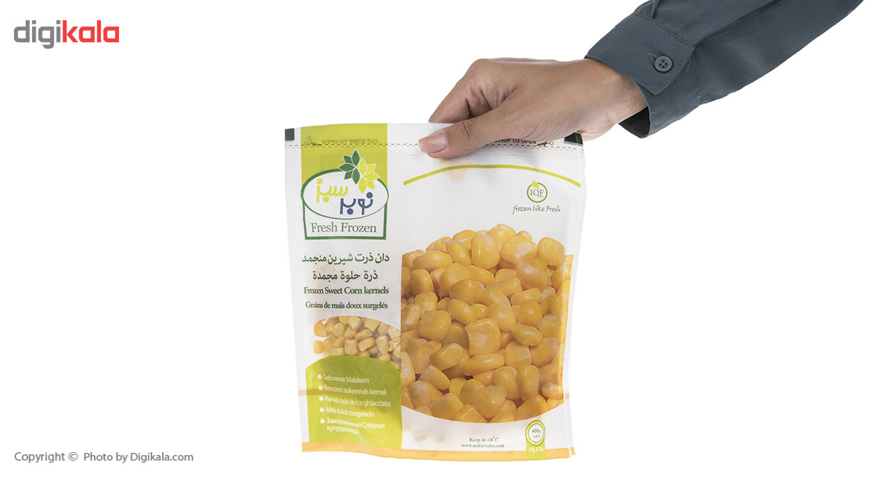 ذرت شیرین منجمد نوبر سبز مقدار 400 گرم main 1 5