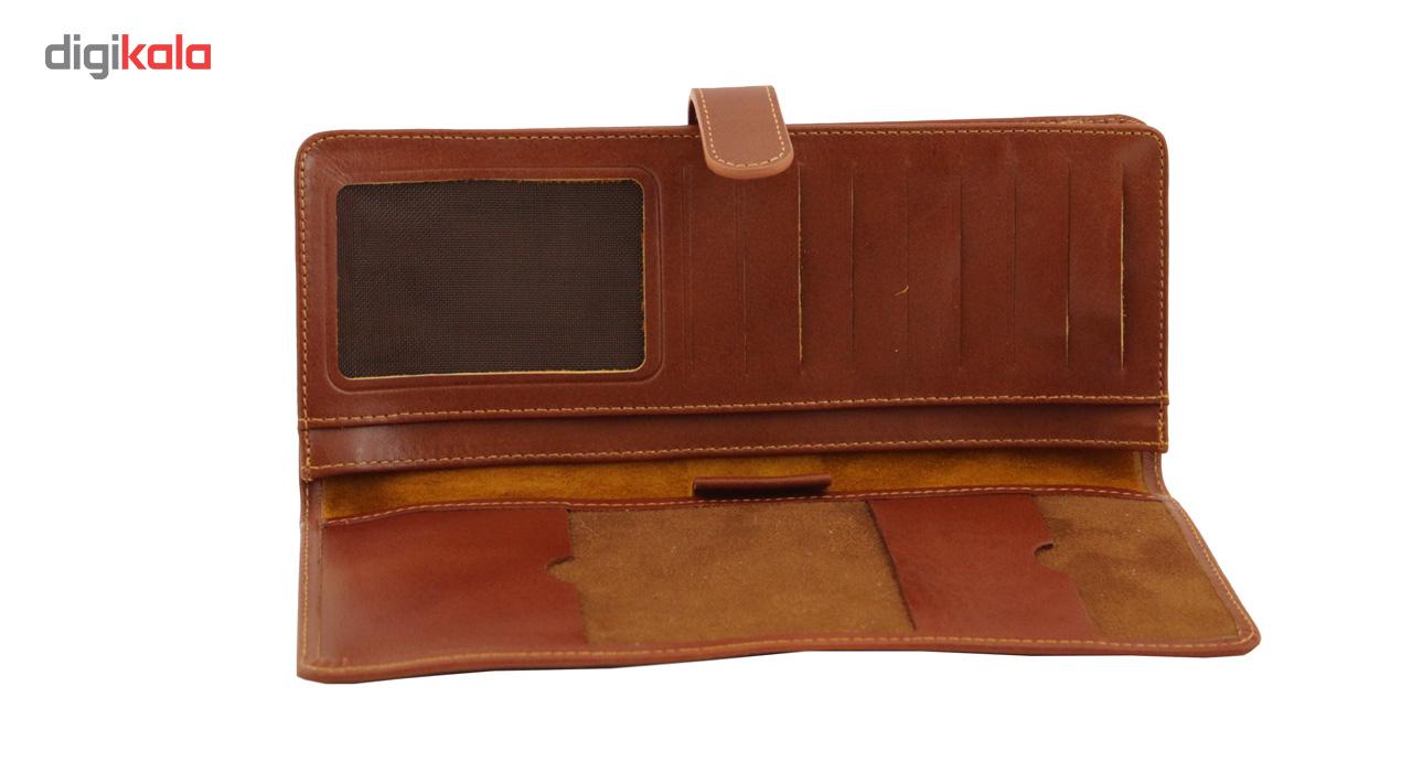 کیف دسته چک چرم طبیعی آدین چرم مدل DM2