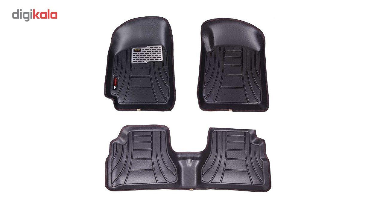 کفپوش سه بعدی خودرو ماهوت مدل اکو مناسب برای پراید تیبا ساینا main 1 1