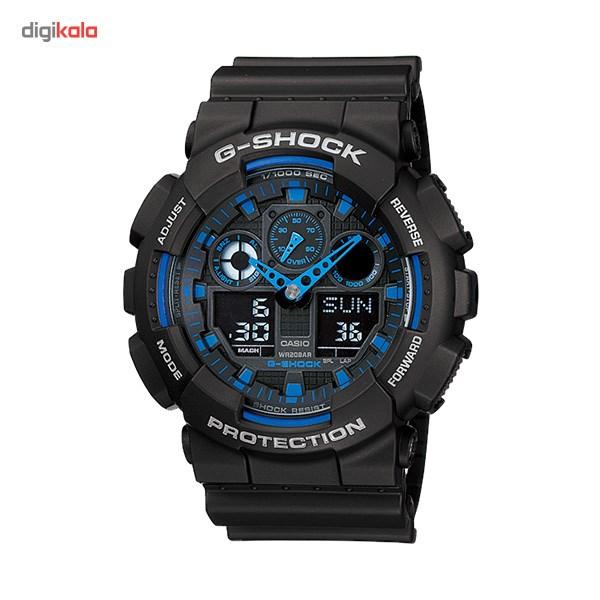 خرید ساعت مچی عقربه ای مردانه کاسیو جی شاک GA-100-1A2DR | ساعت مچی