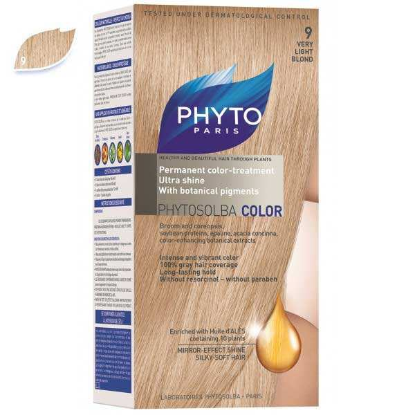 کیت رنگ مو فیتو مدل PHYTO COLOR شماره 9