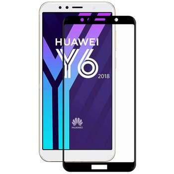 محافظ صفحه نمایش شیشه ای مدل Full مناسب برای گوشی موبایل هواوی Y6 2018