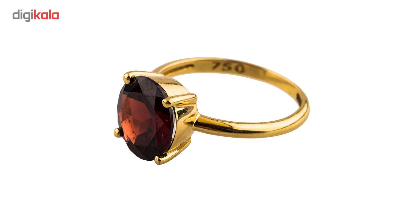 خرید                                      انگشتر طلا 18 عیار مدل تک گارنت