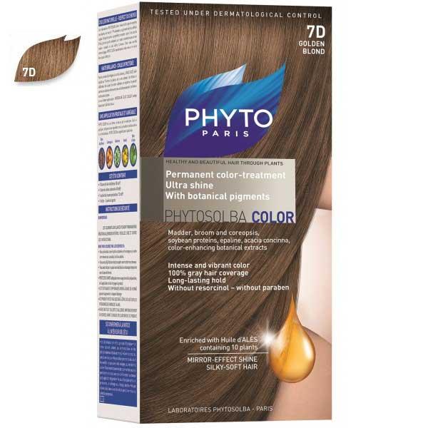 کیت رنگ مو فیتو مدل PHYTO COLOR شماره 7D حجم 40 میلی لیتر