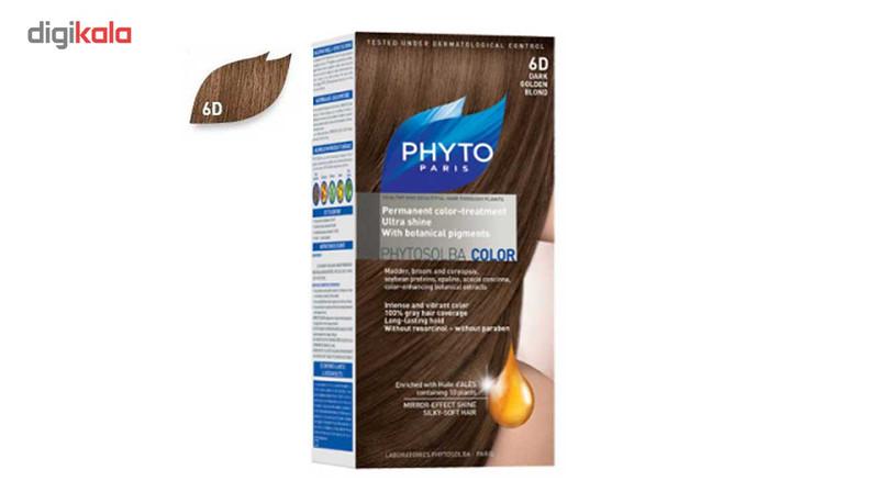 کیت رنگ مو فیتو مدل PHYTO COLOR شماره 6D حجم 40 میلی لیتر