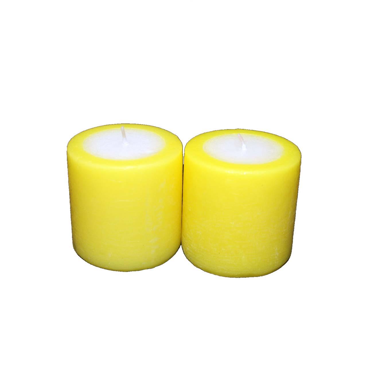 شمع تزیینی رنگی مدل 50019 بسته دو عددی