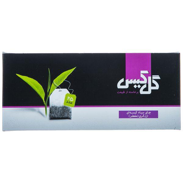 چای سیاه کیسهای ارل گری گل کیس بسته 25 عددی