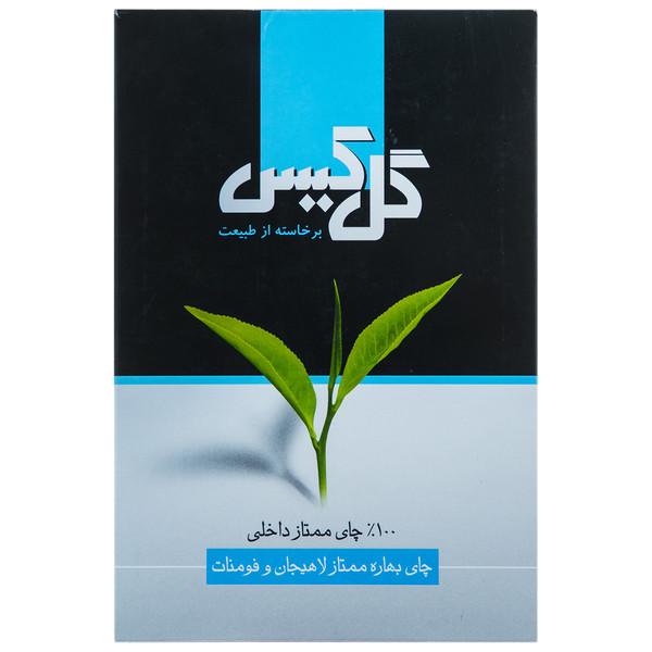 چای سیاه بهاره ممتاز لاهیچان و فومنات گل کیس مقدار 450 گرم