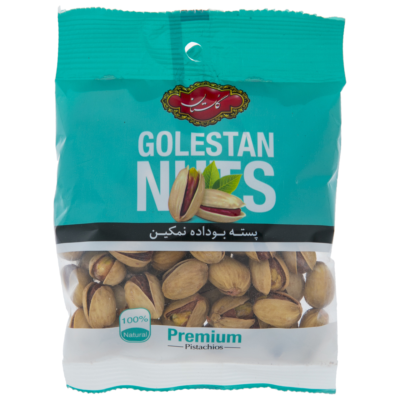 golestan roasted and salty pistachio, 75 g