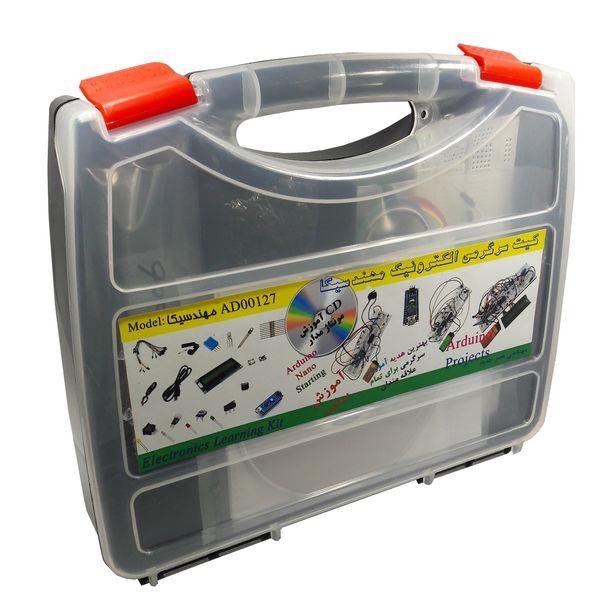 کیت سرگرمی الکترونیک مهندسیکا مدل AD00127 پنج پروژه در یک ماژول با هدیه | AD00127  Electronics Learning Kit 5 in 1