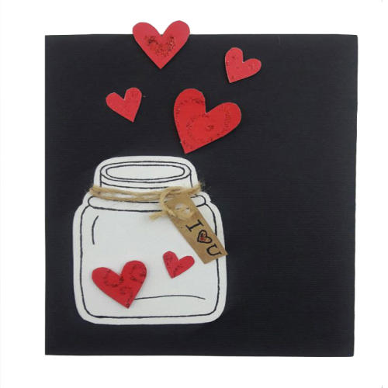 کارت پستال دست ساز مدل بطری