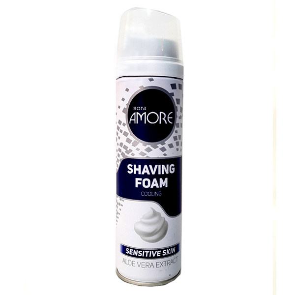 فوم اصلاح مردانه سورا آمور مدل Sensitive Skin حجم 200 میلی لیتر