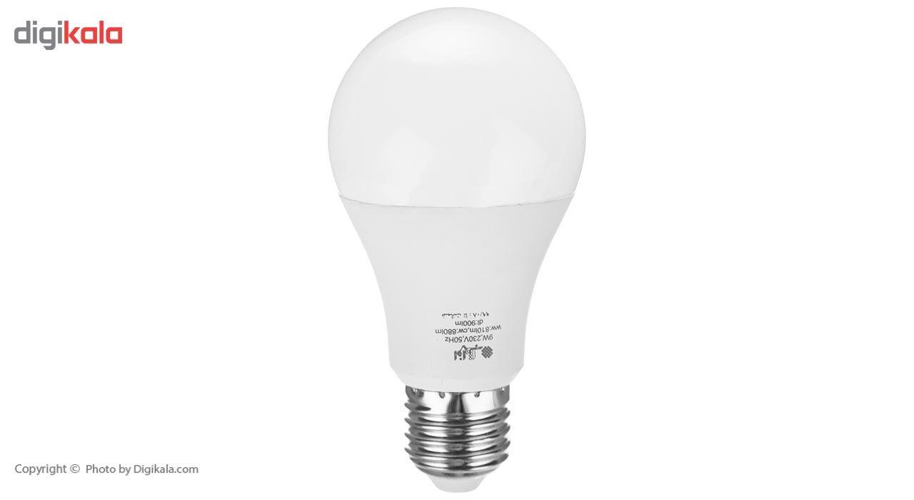 لامپ ال ای دی 9 وات افراتاب مدل AF-B-0901-9W پایه E27 main 1 1
