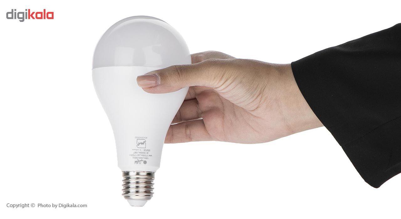 لامپ ال ای دی 18 وات افراتاب مدل AF-A80-18W پایه E27 main 1 2