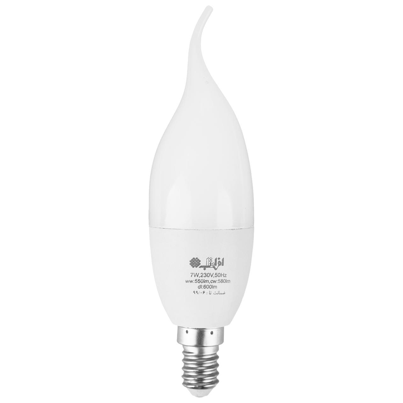لامپ ال ای دی 7 وات افراتاب اشکی مدل AF-TC37-7W پایه E14