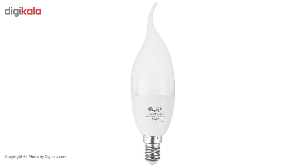لامپ ال ای دی 7 وات افراتاب اشکی مدل AF-TC37-7W پایه E14 main 1 1