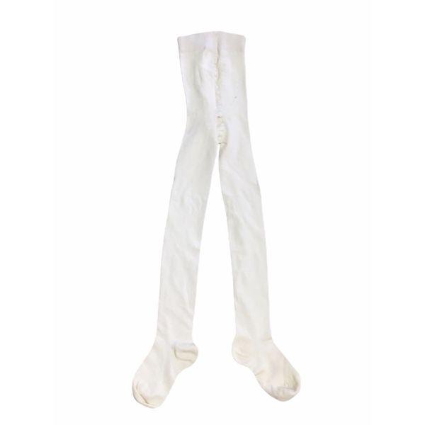 جوراب شلواری دخترانه مدل ساده رنگ شیری