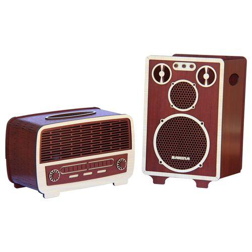 ست سطل و جا دستمال اس ای دکور مدل رادیو و اسپیکر