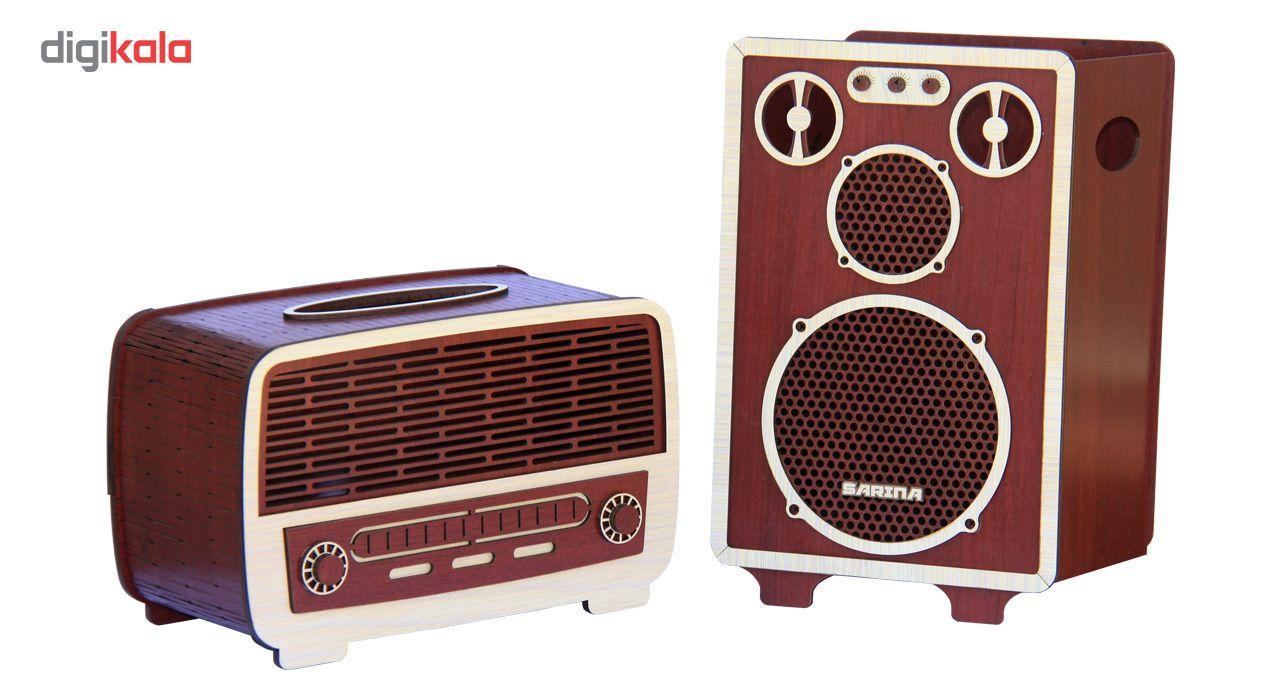 ست سطل و جا دستمال اس ای دکور مدل رادیو و اسپیکر main 1 1