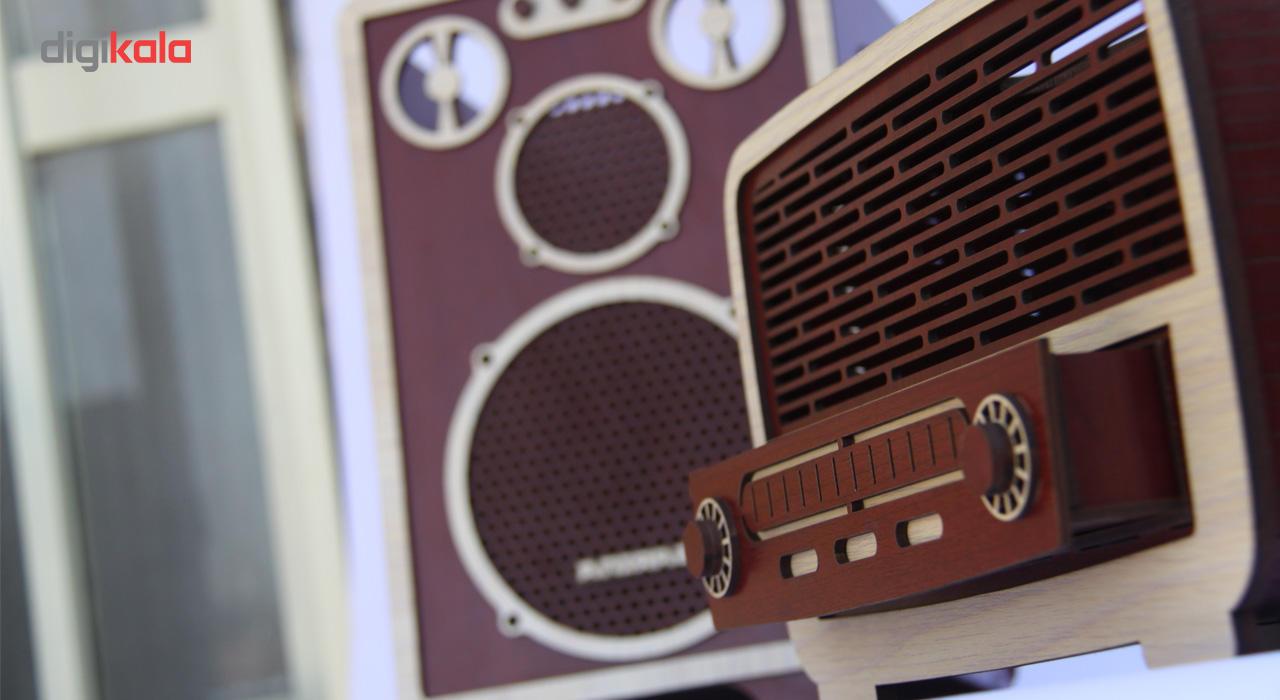 ست سطل و جا دستمال اس ای دکور مدل رادیو و اسپیکر main 1 2