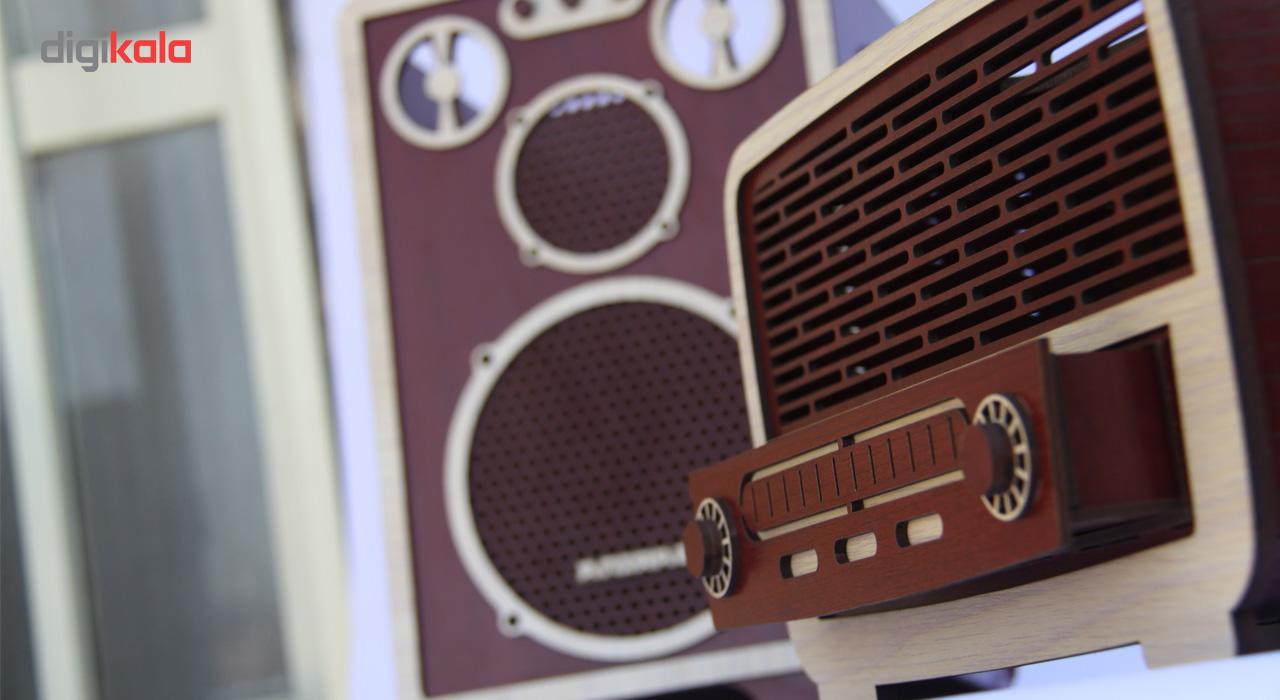 ست سطل و جا دستمال اس ای دکور مدل رادیو و اسپیکر thumb 2