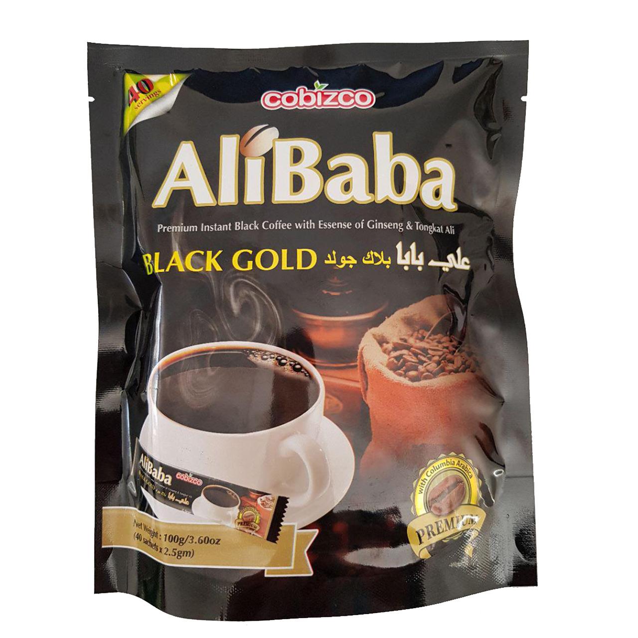 قهوه فوری کوبیزکو مدل علی بابا جینسینگ دار بسته 40 عددی