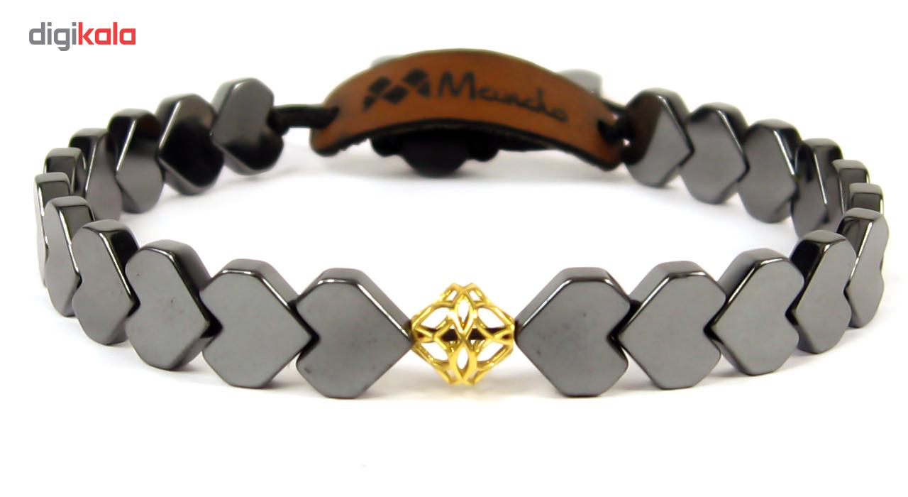 دستبند طلا 18عیار مانچو مدل bfg004