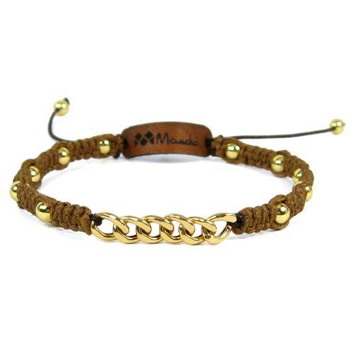 دستبند طلا 18عیار مانچو مدل bfg006