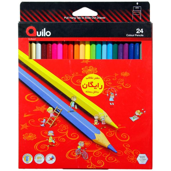 مداد رنگی 24 رنگ مقوایی کوییلو کد 634004