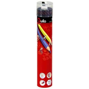 مداد رنگی 12 رنگ استوانهای کوییلو کد 634009