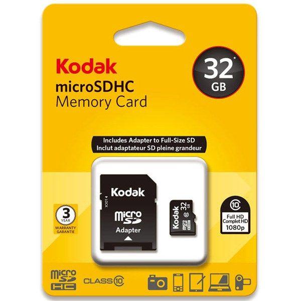کارت حافظه SD کداک Class10 Elite U1 ظرفیت 32 گیگابایت |