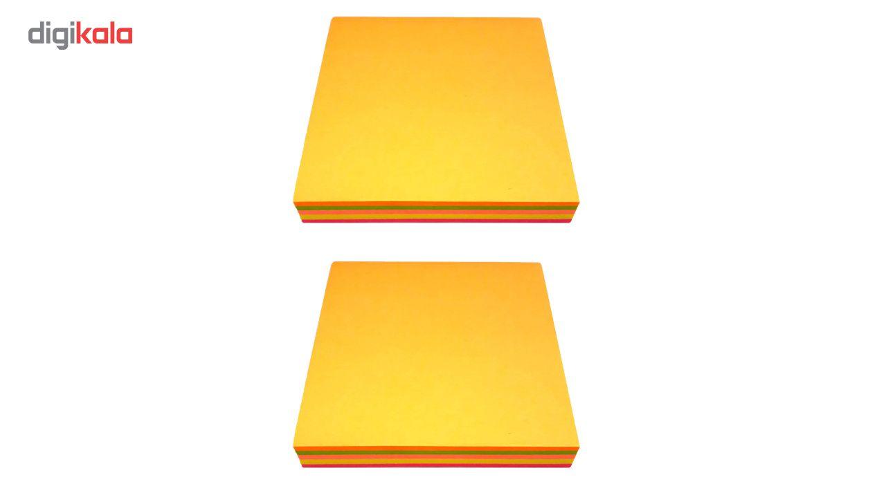 کاغذ یادداشت برچسب دار 100 برگ مدل استیک نوت رنگی بسته 2 عددی main 1 1