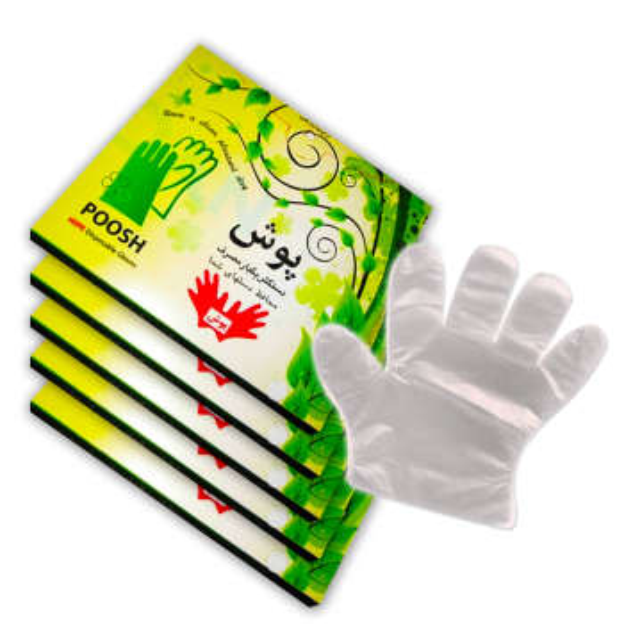 دستکش یکبار مصرف پوش مدل نایلونی بسته 500 عددی