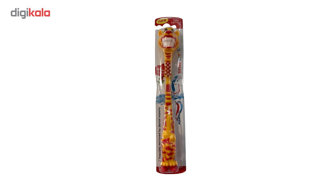 مسواک کودک آکوافرش مدل Tiger 3-5 Years با برس نرم  Aquafresh Tiger Teerh 3-5 Years Soft Toothbrush