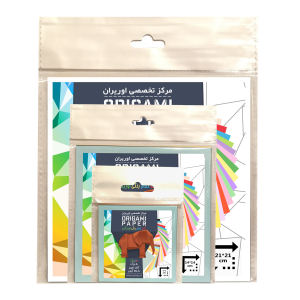 مجموعه کاغذ اوریگامی اوریران مدل تمام رنگی بسته 3 عددی