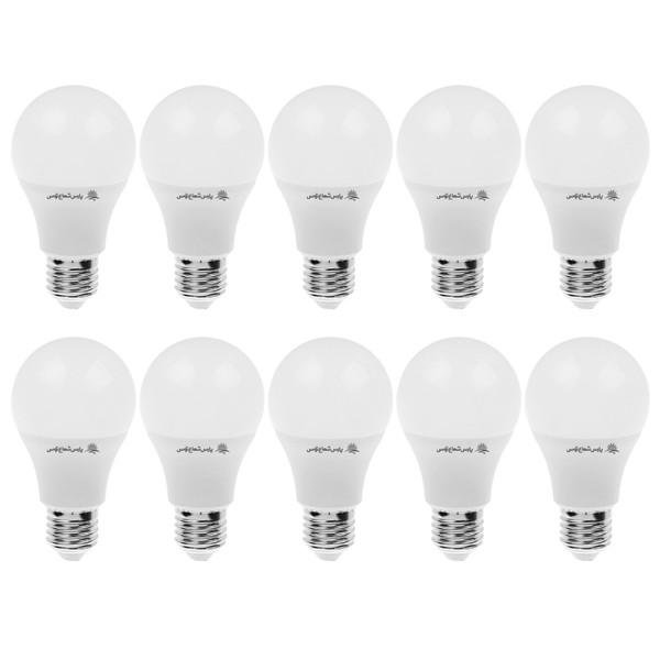 لامپ ال ای دی 9 وات پارس شعاع توس پایه E27 بسته 10عددی