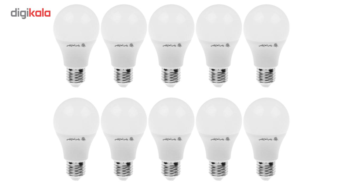 لامپ ال ای دی 9 وات پارس شعاع توس پایه E27 بسته 10عددی main 1 1