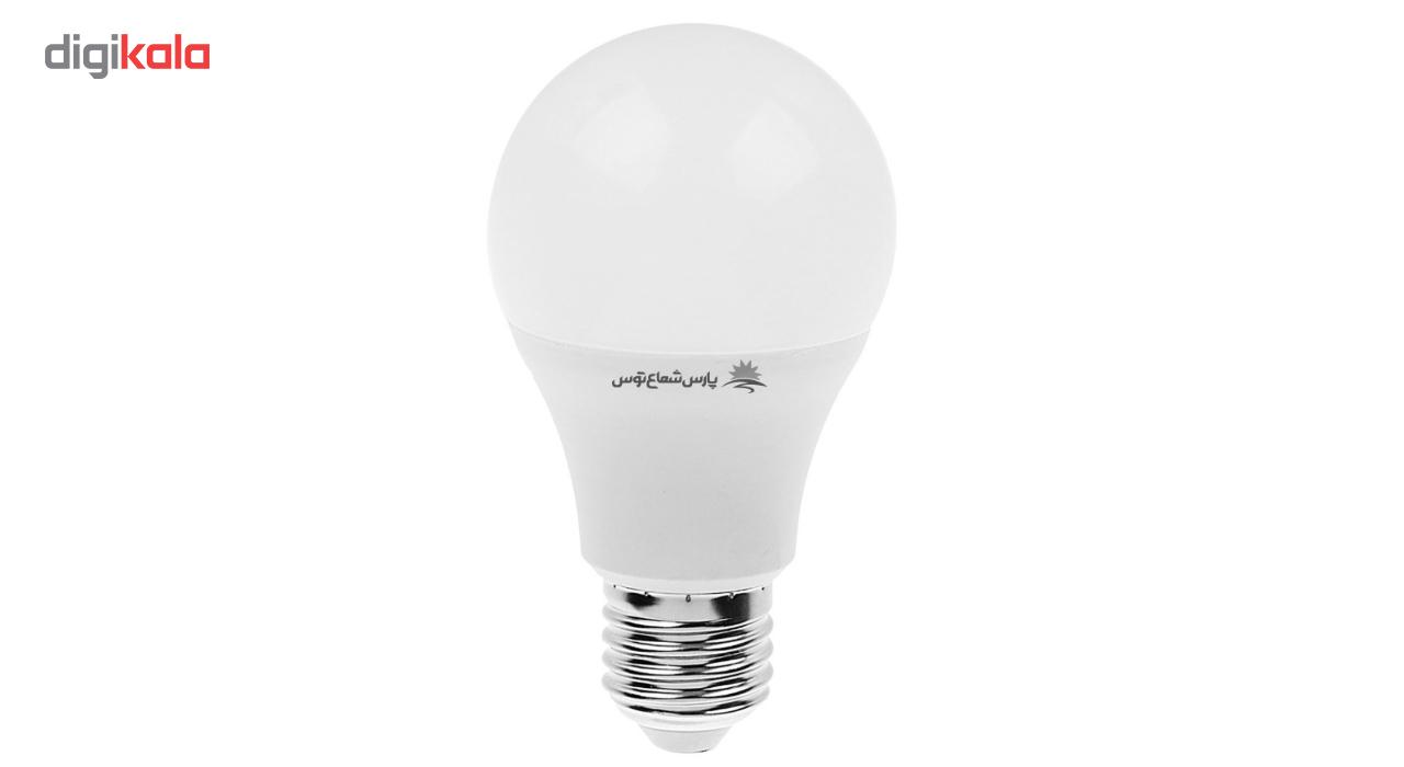 لامپ ال ای دی 9 وات پارس شعاع توس پایه E27 بسته 10عددی main 1 2