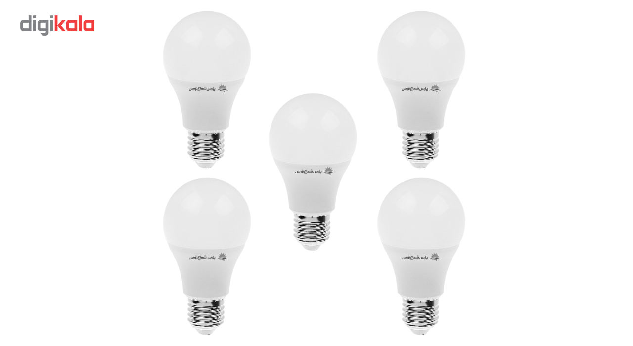 لامپ ال ای دی 9 وات پارس شعاع توس پایه E27 بسته 5 عددی main 1 1