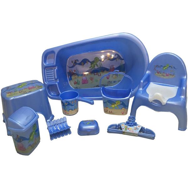ست 9 تکه وان حمام کودک آذر  مدل NKRD2
