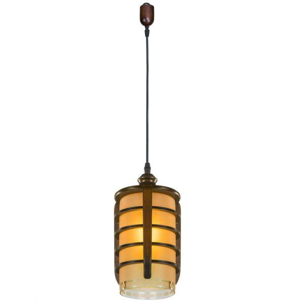 چراغ آویز دارکار مدل چلسی 1 شعله کد 77
