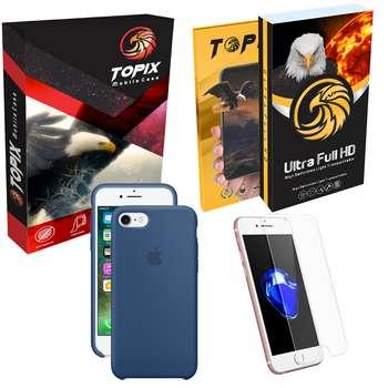 کاور سیلیکونی و محافظ صفحه نمایش تاپیکس مناسب برای گوشی موبایل اپل iphone 7/ 8